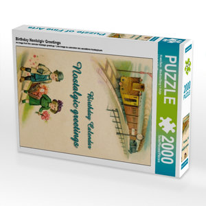 Birthday Nostalgiv Greetings 2000 Teile Puzzle hoch