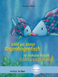Schlaf gut, kleiner Regenbogenfisch. Kinderbuch Deutsch-Türkisch