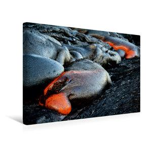 Premium Textil-Leinwand 45 cm x 30 cm quer Pahoehoe Lava