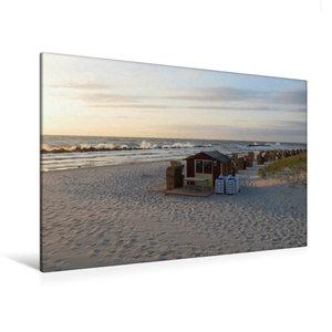 Premium Textil-Leinwand 120 cm x 80 cm quer Strand bei Wustrow (