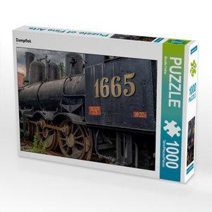 Dampflok 1000 Teile Puzzle quer