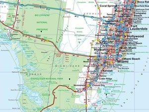 Florida 1 : 800 000. Straßenkarte