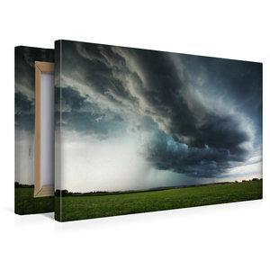 Premium Textil-Leinwand 45 cm x 30 cm quer Aufziehendes Hagelunw