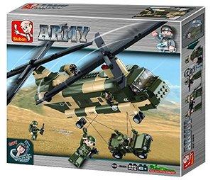 Sluban ARMY M38-B0508 - Transporthubschrauber II Chinook, 520 Te