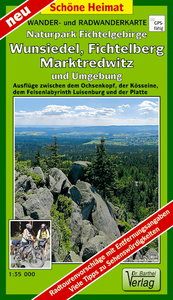 Wander- und Radwanderkarte Naturpark Fichtelgebirge, Wunsiedel,