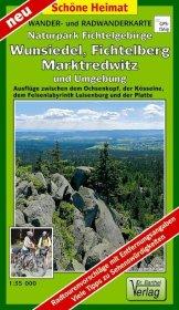 Wander- und Radwanderkarte Naturpark Fichtelgebirge, Wunsiedel, - zum Schließen ins Bild klicken