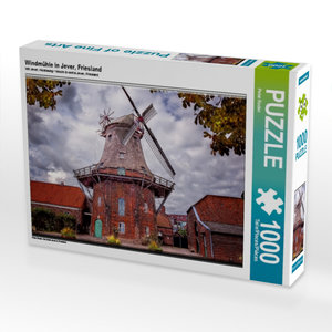 Windmühle in Jever, Friesland 1000 Teile Puzzle quer