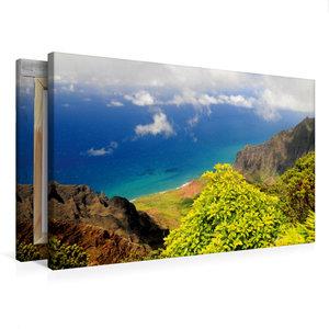 Premium Textil-Leinwand 75 cm x 50 cm quer Na Pali Coast