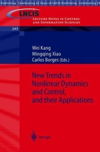 New Trends in Nonlinear Dynamics and Control, and their Applicat