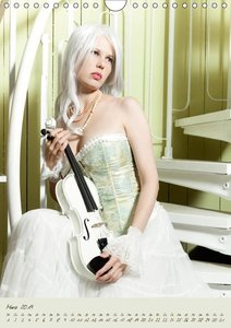 Weiße Geige auf Reisen (Wandkalender 2019 DIN A4 hoch)