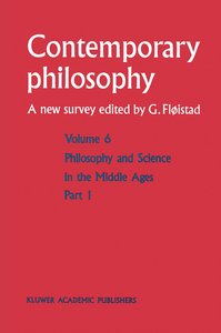 Philosophie et science au Moyen Age / Philosophy and Science in