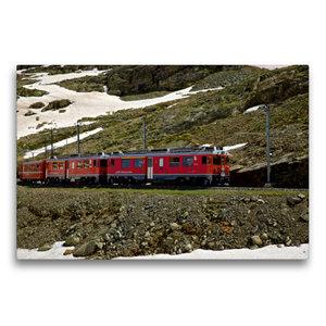 Premium Textil-Leinwand 75 cm x 50 cm quer Rhätische Bahn
