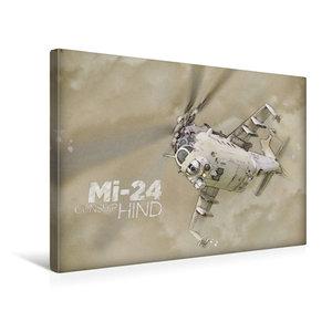 Premium Textil-Leinwand 45 cm x 30 cm quer Mi-24