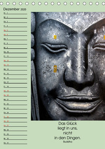 Lebensfreude Buddha (Tischkalender 2020 DIN A5 hoch)