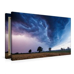 Premium Textil-Leinwand 90 cm x 60 cm quer Shelfcloud zur blauen