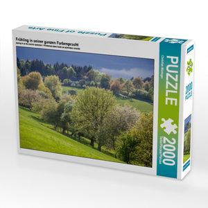 Frühling in seiner ganzen Farbenpracht 2000 Teile Puzzle quer