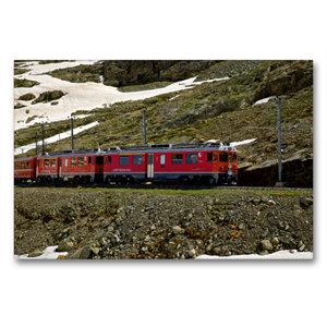 Premium Textil-Leinwand 90 cm x 60 cm quer Rhätische Bahn