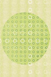 Premium Textil-Leinwand 80 cm x 120 cm hoch Punkte, Grün und We
