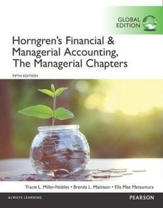 Horngren's Financial & Managerial Accounting, the Managerial Cha