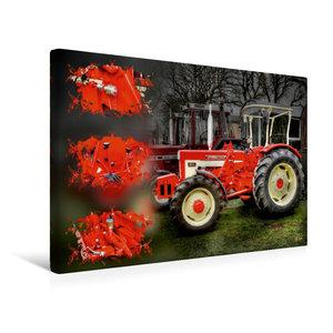 Premium Textil-Leinwand 45 cm x 30 cm quer Oldtimer Traktor McCo