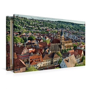 Premium Textil-Leinwand 90 cm x 60 cm quer Altstadt Esslingen am