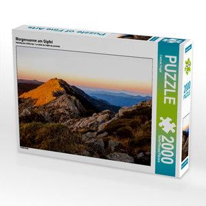 CALVENDO Puzzle Morgensonne am Gipfel 2000 Teile Lege-Größe 90 x