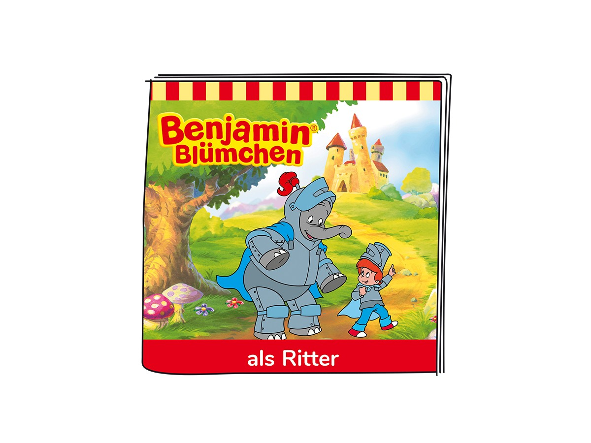 01-0173 Tonie-Benjamin Blümchen - Benjamin als Ritter - zum Schließen ins Bild klicken