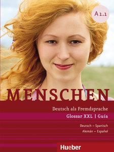 Menschen A1/1. Glossar XXL Deutsch-Spanisch - Guía Alemán-Españo