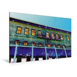 Premium Textil-Leinwand 120 cm x 80 cm quer Außenansicht Gebäude