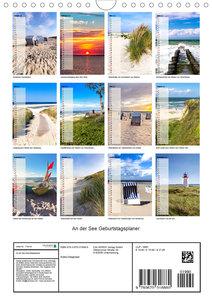 An der See Geburtstagsplaner (Wandkalender 2020 DIN A4 hoch)