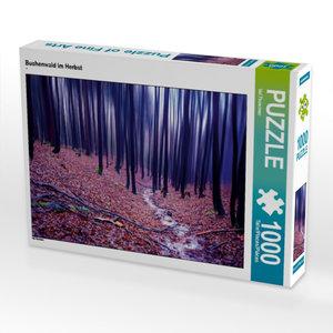 Buchenwald im Herbst 1000 Teile Puzzle quer