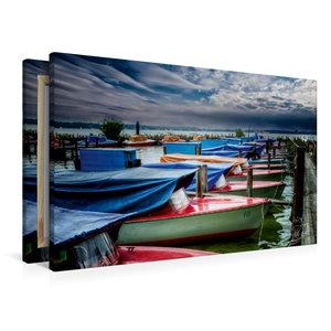 Premium Textil-Leinwand 90 cm x 60 cm quer Zwischenahner Meer