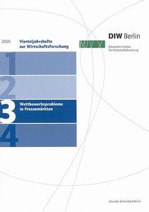 DIW Vierteljahrshefte zur Wirtschaftsforschung 2005/3