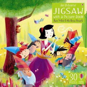 An Usborne Jigsaw with a Picture book Snow White and the Seven D