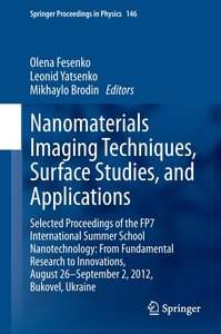 Nanomaterials Imaging Techniques, Surface Studies, and Applicati