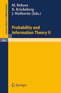 Probability and Information Theory II