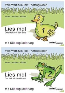 Lies mal - Hefte 1 und 2 (Paket) mit Silbengl.