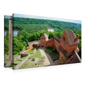 Premium Textil-Leinwand 75 cm x 50 cm quer Burg Turaida