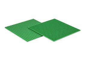 4x Bauplatte grün 20x20 Noppen, 16x16xcm - Basis für Spielzeugba
