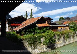 Malerisches Garmisch Partenkirchen - Aquarelle und Fotografien