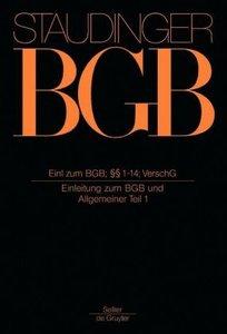 Einleitung zum Bürgerlichen Gesetzbuch (EBGB), Paragraphen 1-14,