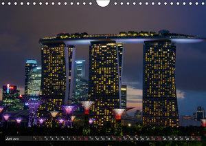 Singapur - Die Farben der Nacht (Wandkalender 2019 DIN A4 quer)