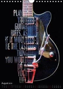 Rockgitarren Textposter