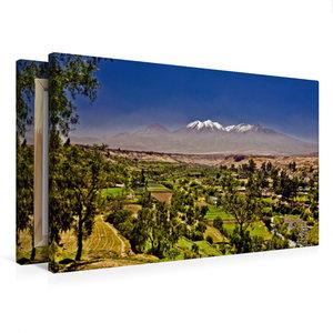 Premium Textil-Leinwand 75 cm x 50 cm quer Vulkan Chachani, 6057