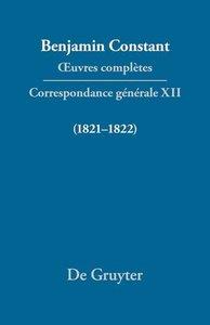 Correspondance générale 1821-1822