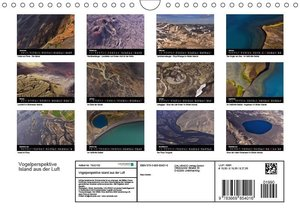 Vogelperspektive Island aus der Luft (Wandkalender 2019 DIN A4 q