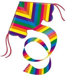 Paul Günther 1159 - Nylondrachen Rainbow, 97 x 85 cm, mit Schnur