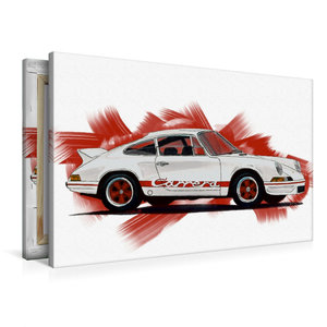 Premium Textil-Leinwand 90 cm x 60 cm quer Porsche 911 Carrera R