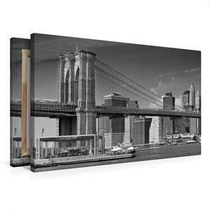 Premium Textil-Leinwand 75 cm x 50 cm quer MANHATTAN SKYLINE & B