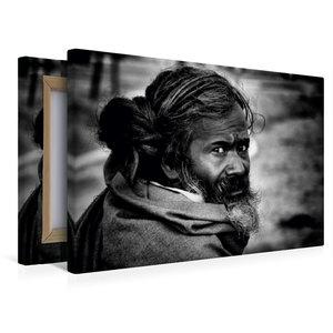 Premium Textil-Leinwand 45 cm x 30 cm quer Sadhu von Jagdev Sing